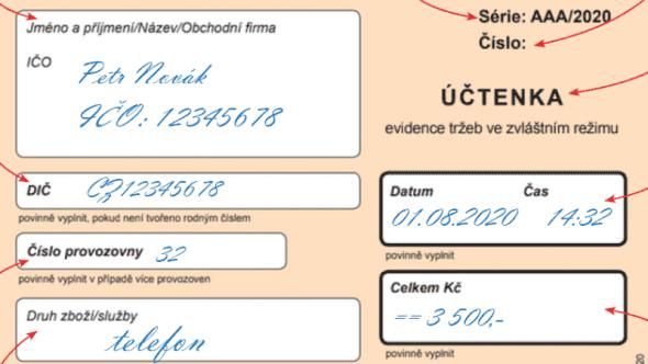 Včem se liší účtenka uběžného, zjednodušeného a zvláštního režimu EET?