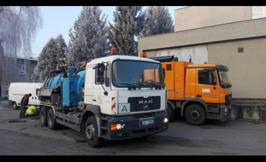 Čištění kanalizací, monitoring potrubí a zkoušky vodotěsnosti
