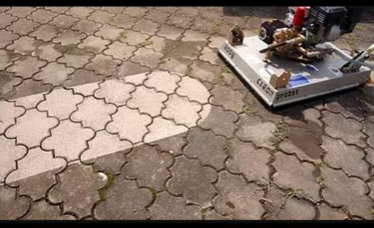 Čištění kamenných a betonových dlažeb tlakovou vodou