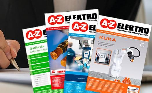 Specializovaný časopis A-Z ELEKTRO – novinky z elektro, energetiky