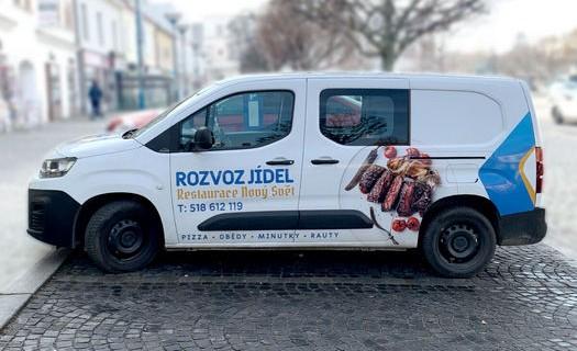 Reklamní a propagační služby Kyjov, reklamní polepy vozidel, firemní loga, tisk letáků, výroba obalů