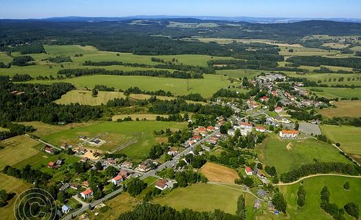 Obec Rozvadov, okres Tachov, přírodní rezervace Diana, Kostel svatého Václava, jezírka u Rozvadova