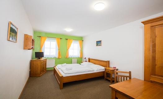 Komfortně vybavené pokoje s vlastním sociálním zařízením