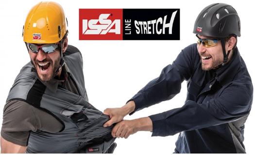 Materiál Stretch garantuje volnost a maximální pohodlí při práci.