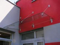 Vchodové stříšky, přístřešky ke vchodům včetně LED osvětlení