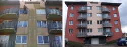 Čištění fasád domů a ochrana před znečištěním a vlhkostí