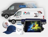 Reklamní předměty, potisk textilu, světelná reklama, 3D loga, polepy, vlaječky a poháry