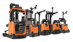 Automatizované skladové vozíky s přesným laserovým naváděním