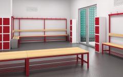 Lavičky do šaten v e-shopu,  lavice do čekáren – zakázková výroba
