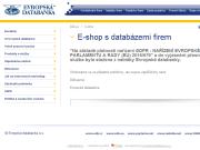 Oficiální eshop firmy E-shop produktů služeb Evropské databanky
