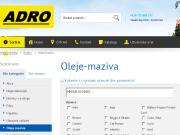 E-shop oleje, maziva
