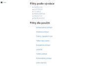 Dodávka filtrů a filtračních technologií