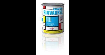 Vodou ředitelná barva na radiátory Slovakryl Radiátor- prodej