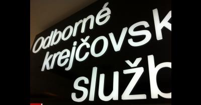 Světelná reklama, světelné reklamní panely Praha - výplň plexi nebo polykarbonát