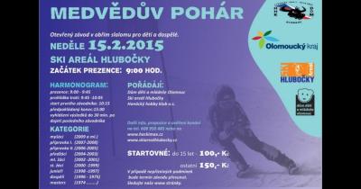 Medvědův pohár Hlubočky - závod v obřím slalomu pro děti a dospělé