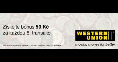 Příjem peněz s Western Union