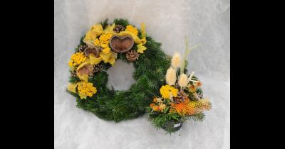 Prodej květin, věnců, zajištění smutečních vazeb Brno