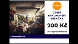 Zimní uskladnění sekačky za skvělou cenu, Moravský Krumlov