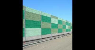 Protihlukové panely pro snížení hluku kolem silnic, dálnic nebo železnic