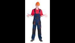 Monterkové kalhoty laclové EMERTON v kombinaci černá /oranžová