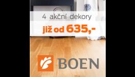 Dřevěné podlahy BOEN za akční nízkou cenu z velkoobchodu BOMA Parket Praha