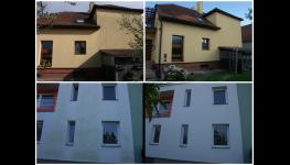 Čištění venkovních omítek-omítky u škol, panelových, činžovních domů
