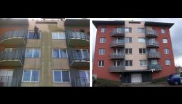 Drobné opravy a ochrana povrchu fasád, střech, čištění zámkové dlažby