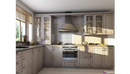 Grafický motiv, digitální potisk na nábytková, kuchyňská dvířka Overface