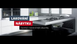 Kvalitní lakování nábytku na míru - lamina, kuchyňských a nábytkových dílů
