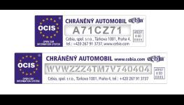 Označení autoskla pískováním VIN pro zabezpečení Vašeho vozidla