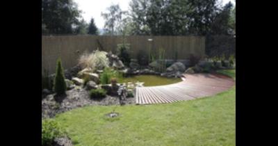 Kompletní realizace zahradních úprav, tvorba zahradních jezírek