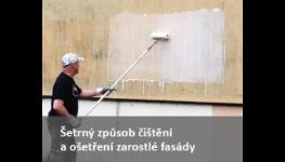 Aplikace ochranných nátěrů proti plísni a řasám a čistění fasád zateplených domů