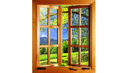 Moderní dřevohliníkové okno z hliníku a dřeva s dlouhou životností od českého výrobce