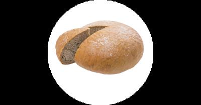 Kváskový krumlovský kulatý chléb, kváskový chléb samožitný z Pekárny Ivanka