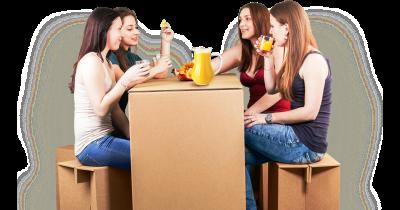 Papírový jednorázový párty nábytek pro různé akce