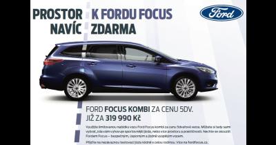 Prostorný Ford Focus Kombi za skvělou cenu - více prostoru a bezpečí pro celou rodinu
