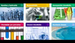 Bazénová chemie Pardubice – sortiment pevných a tekutých chemikálií