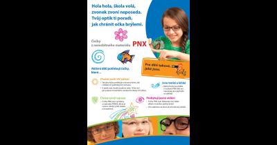 Brýlové čočky PNX z nerozbitného materiálu - tenké a lehké, vhodné pro děti