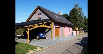 Moderní energeticky úsporné dřevostavby, typové bungalovy na klíč