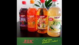 Řada sirupů ZON pro domácí i gastro použití, lahodná chuť podle tradiční receptury