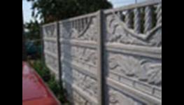 Betonové oplocení, betonové dílce – výroba, prodej, montáž