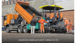 Frézování vozovky frézou Wirtgen, pokládka asfaltu finišery Vogele