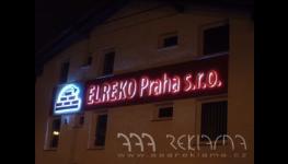 Osvětlené 3D písmo Praha – viditelná reklama i v noci
