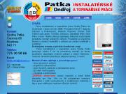 WEBSITE Ondrej Patka - vodoinstalaterske, topenarske prace