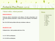 WEBOVÁ STRÁNKA Pediatrie Plus Přerov, s.r.o.