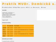 WEBOVÁ STRÁNKA Praktik MUDr. Dembická s.r.o.
