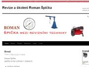 WEBOVÁ STRÁNKA Roman Špička Revize a školení