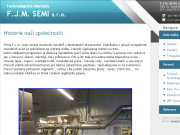 WEBOVÁ STRÁNKA TECHNOLOGICK� MONT��E  F.J.M. SEMI,  s.r.o.