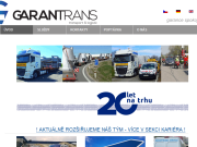 WEBOVÁ STRÁNKA Garantrans s.r.o. Plzeň