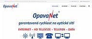 WEBOVÁ STRÁNKA OpavaNet a.s. Internet + Televize + Telefon